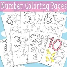 Animals Number Coloring Pages Easy Peasy And Fun