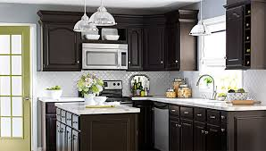Perfect Kitchen Color Ideas With Dark Cabinets Scheme White Tile And Design