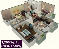 home architecture bhk room and car parking d design this is four