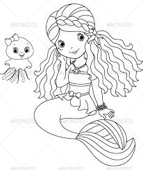 Small Picture Mermaid Coloring Pages Coloring Pages