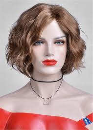 ボブのヘアスタイルショートカーリー合成髪キャップレスのアフリカ系