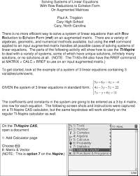 there are a variet of algebraic geometric and numerical methods available but using