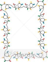 Windy Strands Of Christmas Lights Border Christian Christmas Borders