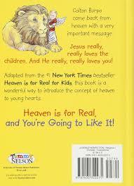 heaven is for real for little ones todd burpo sonja burpo 9781400322275 amazon books