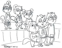 alvin and the chipmunks coloring page and the chipmunks coloring pages chipmunks coloring pages and the