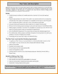 Tutor Job Description For Resume Awesome Collection Of 24 Math Tutor Job Description Nice Tutoring 10