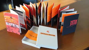 deeg s work initially perceived as a simple vibrant accordion folded book suggests that we might need similar orange hazard warnings against something