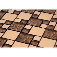 venetian glass tiles satin copper