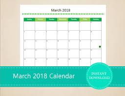 editable calendar march 2018 march 2018 calendar printable and editable seasonal