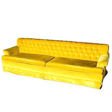 yellow leather sofa and loveseat vintage mustard velvet couch