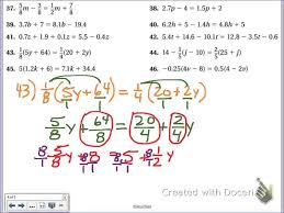 mathsheets maxresdefault equations with fractions one step minionsheet graphing linear
