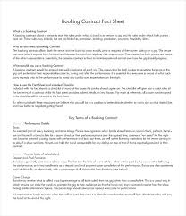 Band Booking Contract Template – Shopsapphire