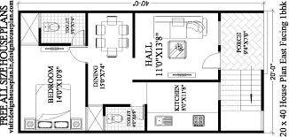 20 x 40 house plans east facing with