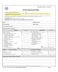 2018 Financial Statement Form - Fillable, Printable Pdf & Forms ...