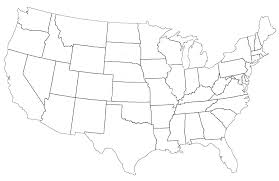United States Map For Coloring United States Coloring Pages High