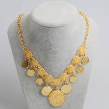 Gold Coin Pendant Designs Us 7 78 Gold Color African New Design Charm Arab Middle East Ancient Coins Jewelry Coin Necklaces For Women Girls J0855 In Chain Necklaces From