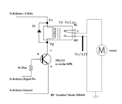 stage 4 complete beginner s guide for arduino hardware platform figure 9 3 shows the circuit diagram of 5v relay whose actual connection is shown in figure 9 4 i have used a 9v battery as vcc you can also use 9v 12v