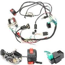 wiring harness loom solenoid coil rectifier cdi 50cc 70cc 110cc Atv Wiring Harness cableado completo con stator magneto piña luces cdi bobina llave quad 50cc wiring harness for atv