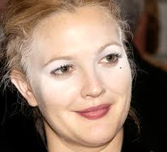 look good celebrity drew barrymore makeup fail worst celebrity makeup fails