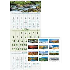 At A Glance 3 Month Calendar At A Glance Dmw50328 At A Glance Scenic 3 Months Per Page Panoramic