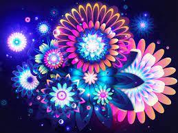 wallpaper, Flower wallpaper, Neon wallpaper