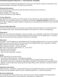 Resume Objective Section Sample Industrial Engineering Resume Objective Industrial Engineer Resume ...