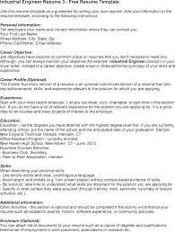 Industrial Engineering Resume Objective Industrial Engineer Resume ...