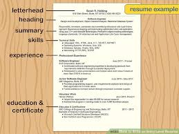 how to write resume with how to write an entry level resume 11 steps with pictures