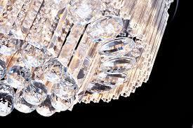 saint mossi chandelier modern k9 round crystal raindrop