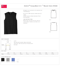 District Very Important Tee Size Chart Young Mens Muscle Tank 100 Cotton True To Size Apparel