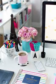 pinterest office desk. pink and blue desk accessories simplified planner pinterest office s