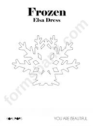 Snowflakes Template Pdf Snowflake Template Frozen Printable Pdf Download