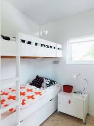 Small Bedroom With Two Beds Small Bedroom For Two Beds With White Bunk Bed With Ladder And