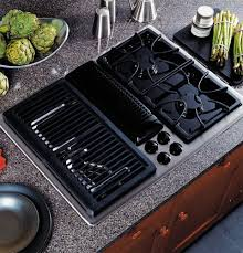 gas cooktop with downdraft. GE Profile™ Built-In Downdraft Gas Modular Cooktop   JGP979SEFSS Appliances With