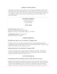 Federal Government Resume Template Inspiration Sample Resume For Government Jobs Promisedesign