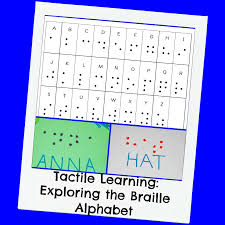 Tactile Learning Creating The Braille Alphabet With Kids