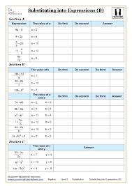 variable on both sides worksheets algebra substitution at worksheet kuta