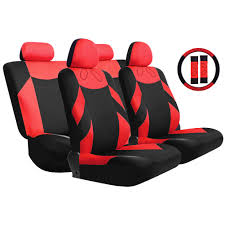 kkmoon universal 13pcs car seat cover front seat bench seat covers wheel cover set red blue gray beige