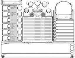 dnd 3 5 character sheet art ornate character sheet room for drawing your character too dnd