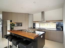 Magnificent Modern Kitchen Combine Long Island Designs Light Grey Fabric  Upper Also Lower Kitchen Cabinets ...