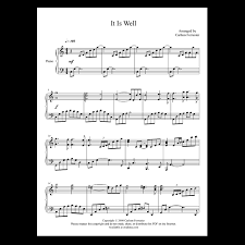 Or, a simplified version of a work for the same medium of performance. It Is Well With My Soul Sheet Music Carlton Forrester Music