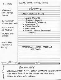 Cornell Note What is the Cornell Note Taking System Writer's Bloc Blog 1