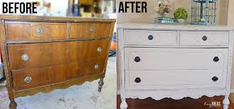 a beginner s experience with a chalk paint dresser makeover