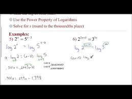 lesson 8 6 solving exponential equations using logs examples 5 6 you