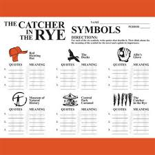 the catcher in the rye symbols analyzer by created for learning tpt the catcher in the rye symbols analyzer