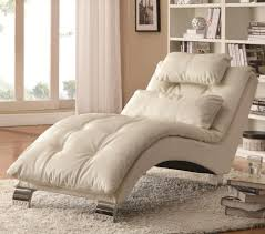 ... Outstanding Interior Design With Chaise Lounges For Bedrooms Decoration  : Impressive White Leather Tufted Lounge Chair ...