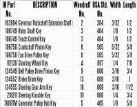 Woodruff Key Depth Chart Woodruff Keys