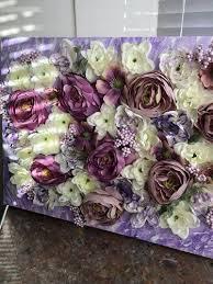 3d flower wall art purple mood room