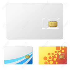 Blank White New Sim Card Template With 2 Simple Design Examples