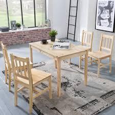Kadima Design Esszimmer Set Emil 5 Teilig Kiefer Holz